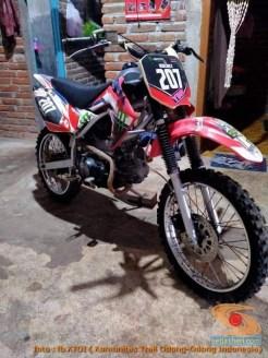 Modifikasi trail GTX bebek basis mesin Yamaha Vega tahun 2020 (35)