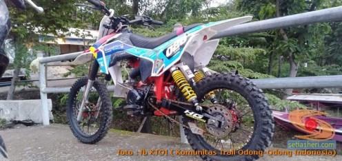 Modifikasi trail GTX bebek basis mesin Yamaha Vega tahun 2020 (1)