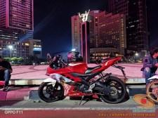 Kumpulan modif Yamaha R15 warna merah meronah brosis. (15)