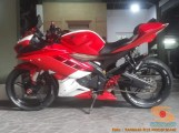 Kumpulan modif Yamaha R15 warna merah meronah brosis. (4)