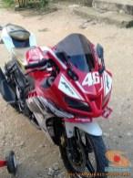 Kumpulan modif Yamaha R15 warna merah meronah brosis. (6)