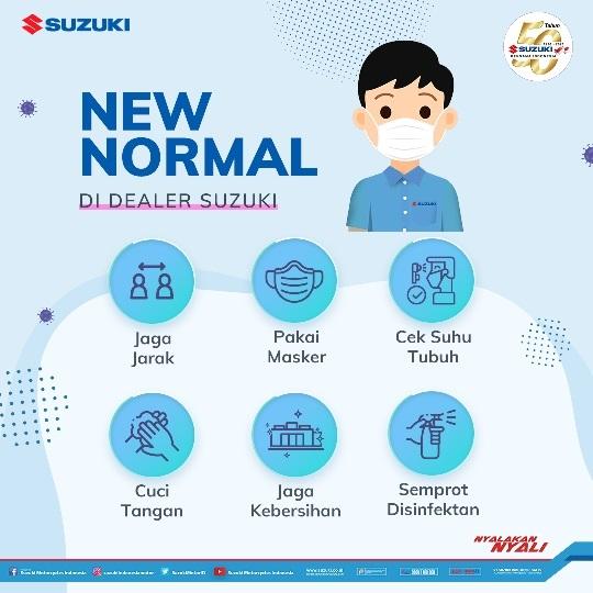 Protokol Kesehatan di Jaringan Diler Suzuki