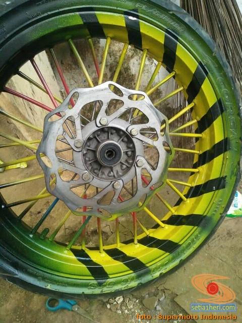 Cara repaint velg sepeda motor dengan baik dan benar bagi pemula.. (1)