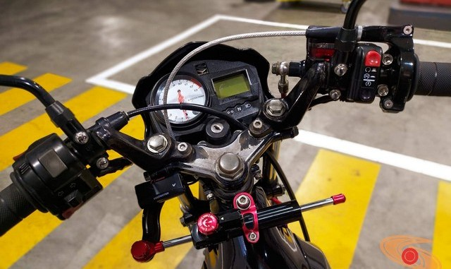 Modifikasi suzuki satria fu pakai stabilizer atau steering dumper brosis