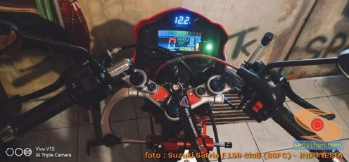 Modifikasi suzuki satria fu pakai stabilizer atau steering dumper brosis (10)