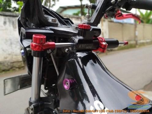 Modifikasi suzuki satria fu pakai stabilizer atau steering dumper merk KTC