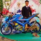 Motor-motor vijar yang jadi saksi di pelaminan dan pernikahan (6)