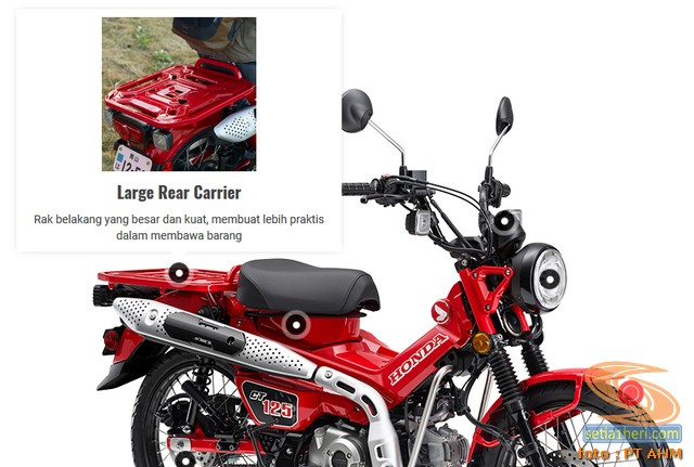 Fitur, Spesifikasi dan harga Motor Bebek Trekking Honda CT125 tahun 2020