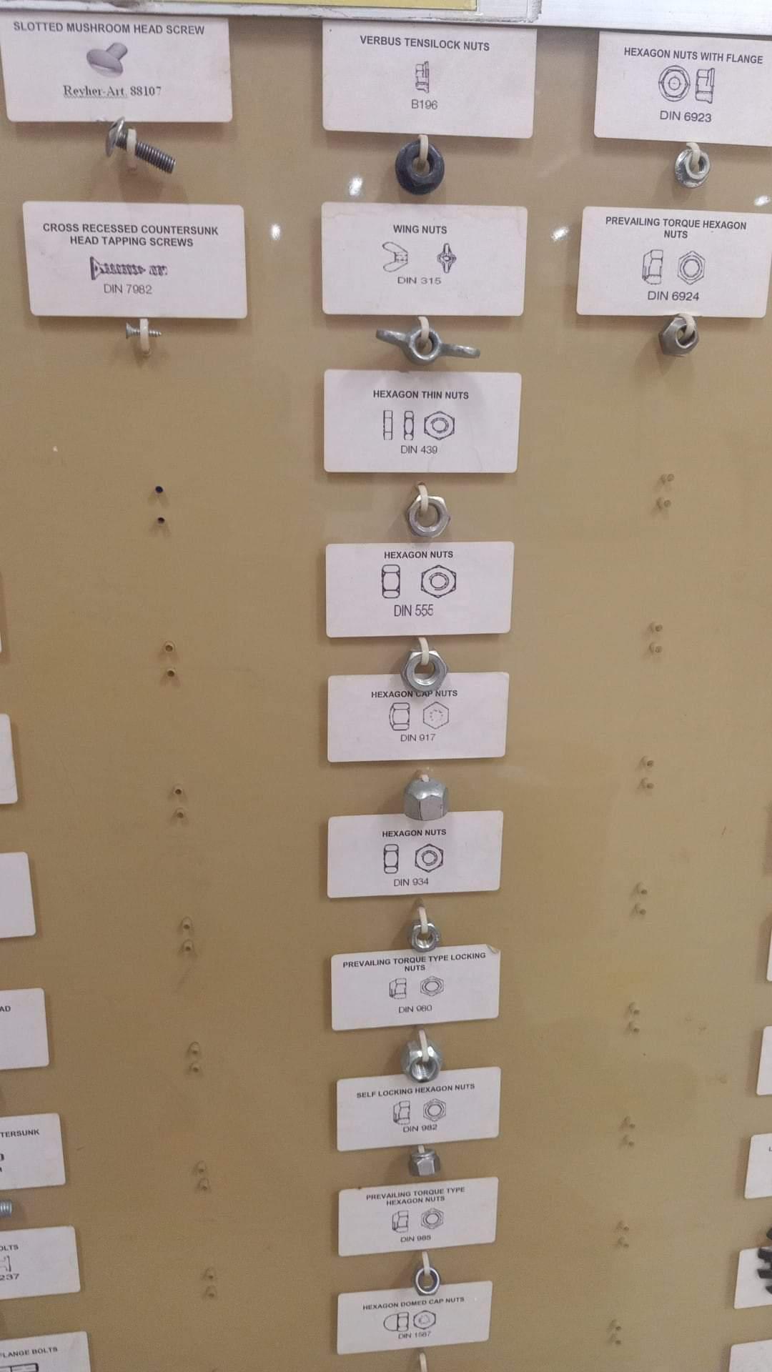Daftar nama dan gambar mur atau baut di bengkel atau toko bangunan (1)