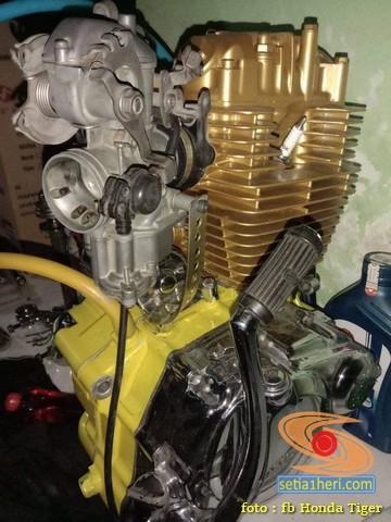 Solusi kreatif manipol Honda Tiger biar awet dan aman brosis....