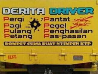 kata kata sedih atau derita seorang sopir dan driver