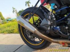 Modifikasi hedon Suzuki GSX-R 150 warna emas istimewa asal Bekasi (4)