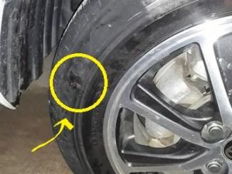 Tembelan ban tubeless mobil posisi disamping atau dipinggir apakah aman Monggo diskusi brosis