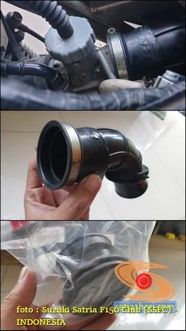 Tips pasang karbu PE 28 dan filter udara di Suzuki Satria Fu karbu (1)