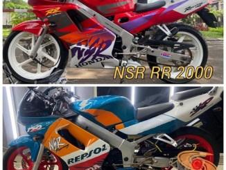 Dilego motor lawas Honda NSR RR Astra tahun 2000 dan Honda NSR 150 SP