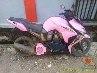 Modifikasi kawin silang Honda Vario pakai bodi Yamaha Byson.. (1)