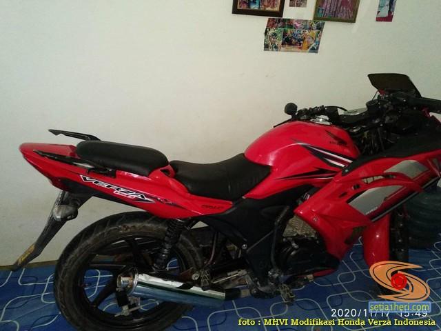 Modifikasi Honda Verza jadi motor sport full fairing pakai bodi Yamaha R15 (1)