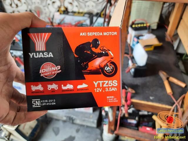 Ganti aki baru motor bebek Honda Revo tahun 2020 (1)