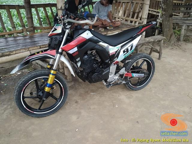 Modif Yamaha Byson 2020 jadi motor trail atau supermoto, kece abisss brosis (9)