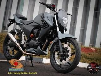 Modif simpel Honda Megapro Mono jadi motor naked yang kerenn gans.. (1)