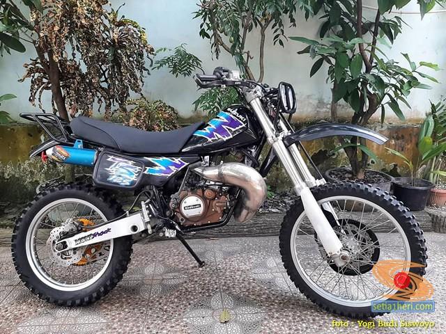 Modif trail Suzuki TS mesin pakai Ninja Super Kips 2006 (1)