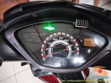Ragam posisi pasang voltmeter di speedometer Honda Supra X 125, monggo disimak gans (1)