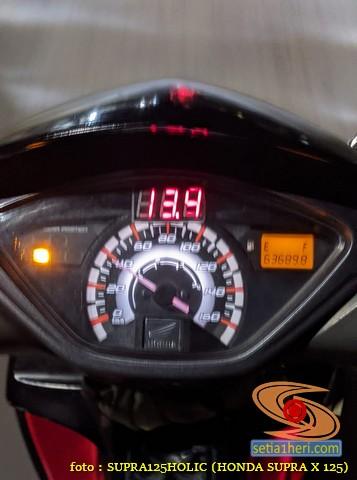 Ragam posisi pasang voltmeter di speedometer Honda Supra X 125, monggo disimak gans (14)
