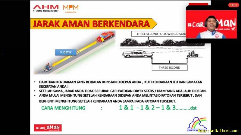 jarak aman berkendara bagi motor