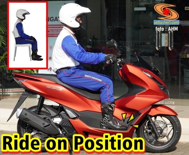 posisi berkenda honda pcx 160 tahun 2021_RideOnPosition