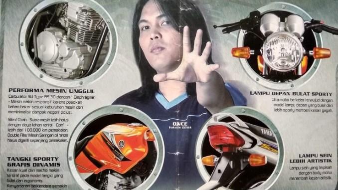 Daftar artis yang jadi bintang iklan sepeda motor lawas maupun kekinian gans...cekidot