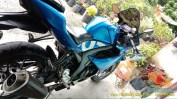 Penampakan Suzuki GSX R150 pakai lowering kit biar rendah gans.. (5)