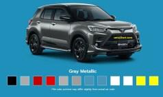 Pilihan warna Toyota Raize tahun 2021