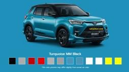Pilihan warna turquoise Toyota Raize tahun 2021