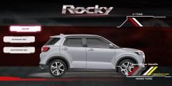 pilihan warna silver metalic daihatsu rocky tahun 2021