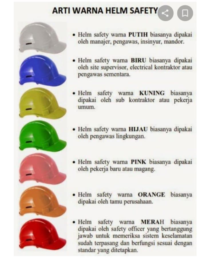 warna helm proyek dan artinya