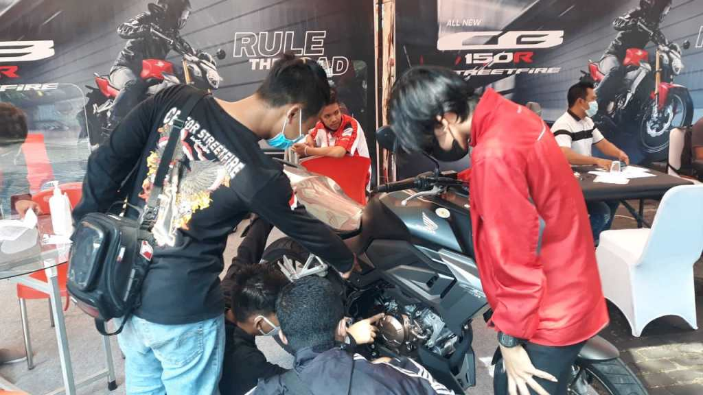 Honda All New CB150R Streetfire 2021 Hadir di Malang, harga mulai 30,3 jeti brosis...