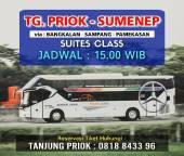 Tarif Bus Sleeper Sinar Jaya jurusan Tanjung Priok - Pamekasan