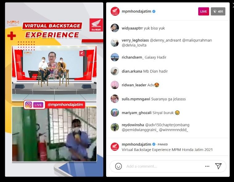 Peringati Hari Pelanggan Nasional 2021, MPM Honda Jatim ajak konsumen Virtual Tour De MPM