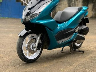 Modif keren warna hijau tua Honda PCX 2021