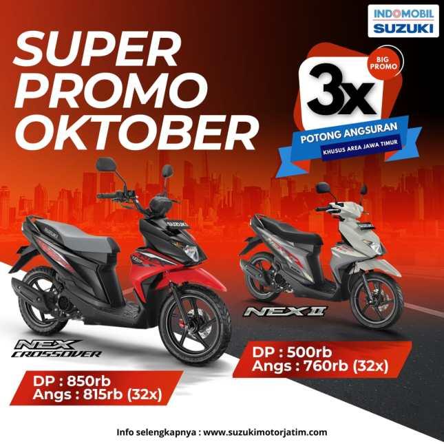 Promo motor Suzuki Jawa Timur Oktober 2021