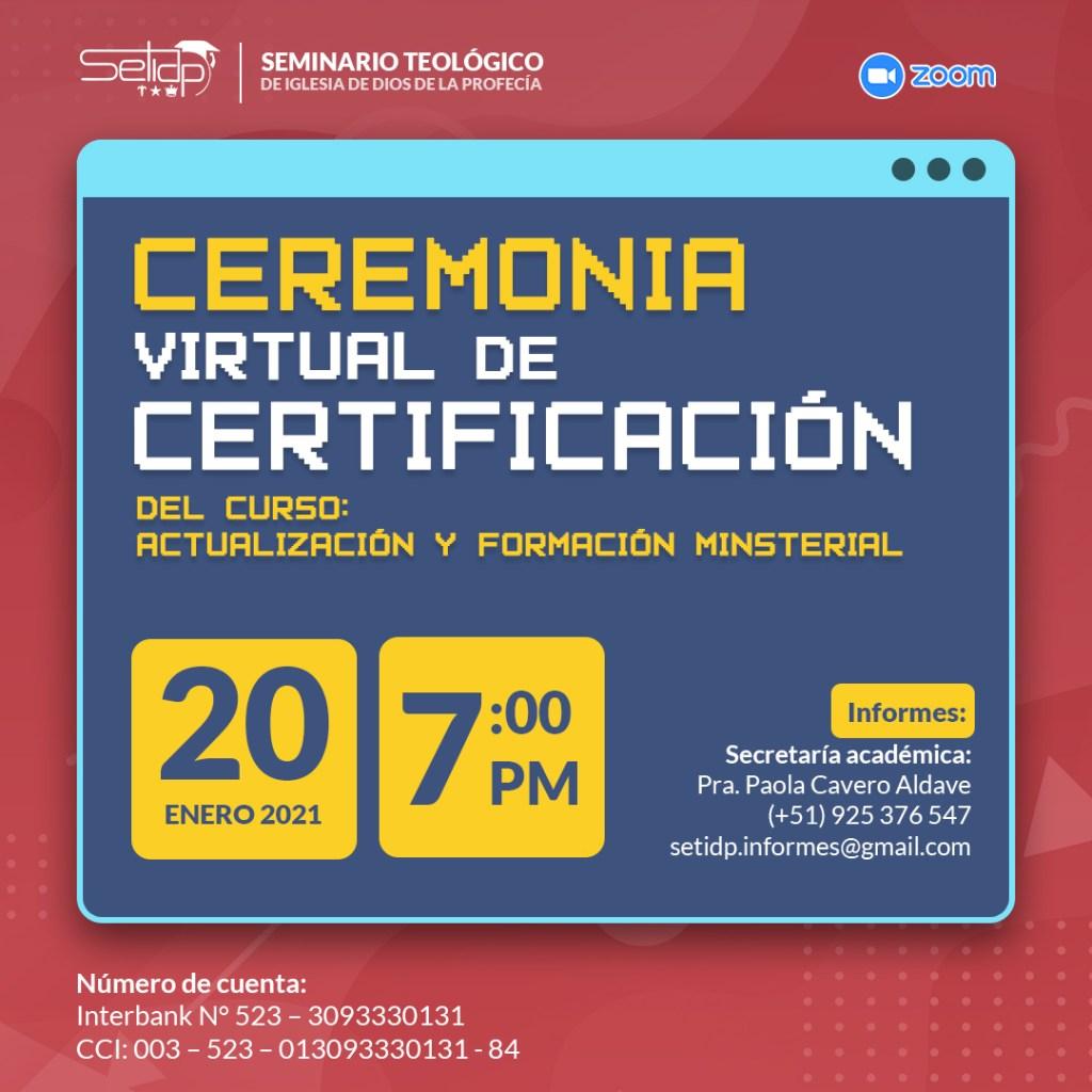 Ceremonia Virtual de Certificación