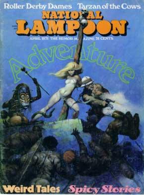 """Capa da National Lampoon de abril de 1971, que contém o artigo """"Spoilers"""""""