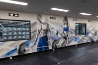 Gym Interior Graffiti Mural - Street Artist Melbourne