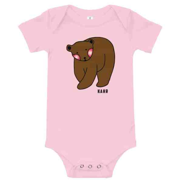 baby short sleeve one piece pink 5ff2d56b41a19
