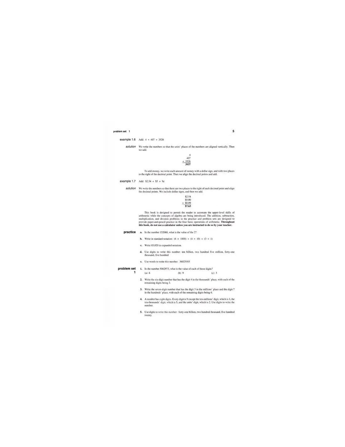 Saxon Algebra 1 2 3rd Edition Text