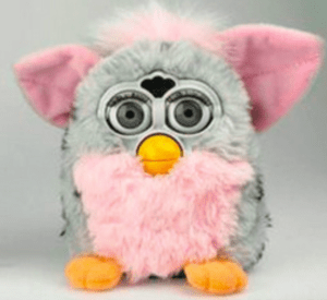 The Furby is a tiny little demon disguised by a colorful fur coat. Photo courtesy of pinterest.com