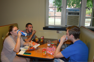 Students gather together at the cove to enjoy a meal. Photo courtesy of