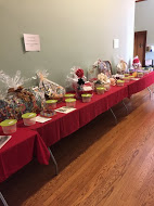 The raffle baskets contained many different prizes, including the popular Pittsburgh Steelers and Penguins tickets
