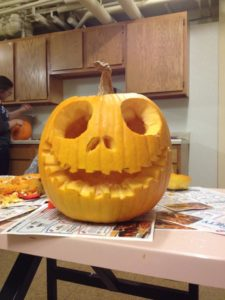 Schultz carved this Jack Skellington pumpkin during her freshman year. Photo courtesy of O.Schultz/Setonian