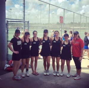 The Lady Griffins pose for a team photo after one of their fall matches. Photo courtesy of Paula Carvajalino